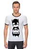 "Футболка ""Рингер"" (Мужская) ""Batman (Бэтмен)"" - batman, бэтмен"
