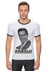 """Футболка """"Рингер"""" (Мужская) """"Arnold Schwarzenegger"""" - кино, arnold schwarzenegger, терминатор, terminator, арнольд шварценеггер"""