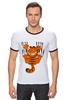 "Футболка Рингер ""Гарфилд"" - кот, комикс, cat, гарфилд, garfield"
