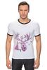 """Футболка """"Рингер"""" (Мужская) """"Хипстер олень """" - арт, стиль, олень, хипстер, deer"""