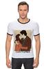 """Футболка Рингер """"Happy Together """" - любовь, 14 февраля, kiss, поцелуй, влюбленные"""