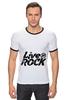 "Футболка Рингер ""LiveInRock"" - рок, rock"