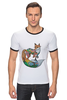 "Футболка Рингер ""LISSA ART"" - арт, рисунок, fox, лиса"