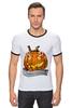 "Футболка ""Рингер"" (Мужская) ""Helloween"" - хэллоуин, helloween"