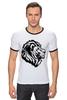 """Футболка """"Рингер"""" (Мужская) """"proud lion """" - лев, lion"""