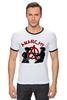 "Футболка ""Рингер"" (Мужская) ""Punks Not Dead"" - панк, anarchy, анархия, панк рок, punks not dead"