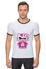 """Футболка """"Рингер"""" (Мужская) """"Hello Kitty Joker"""" - hello kitty, joker, джокер, хелло китти"""