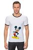 "Футболка ""Рингер"" (Мужская) ""Mickey"" - микки маус, микки, mickey mouse"