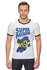 "Футболка Рингер ""Super Minion"" - супер, миньон, minion"