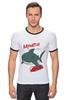 """Футболка """"Рингер"""" (Мужская) """"Акула (Baywatch)"""" - акула, shark, спасатели малибу, baywatch"""