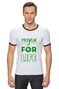 "Футболка Рингер ""Vegan for life"" - веган, vegan, веганство"