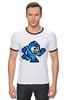 "Футболка ""Рингер"" (Мужская) ""Mega Man (8-bit)"" - 8-бит, 8-bit, mega man"