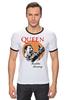 "Футболка ""Рингер"" (Мужская) ""Freddie Mercury - Queen"" - queen, фредди меркьюри, freddie mercury, куин, rock music"