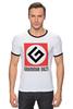 """Футболка """"Рингер"""" (Мужская) """"Grammar Nazi"""" - grammar nazi, русский язык"""