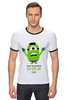 "Футболка Рингер ""The Minion Hulk                 "" - супергерои, hulk, миньоны, халк, minion"