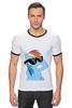 "Футболка ""Рингер"" (Мужская) ""Rainbow Dash"" - rainbow dash, mlp, my little pony, пони"