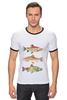 "Футболка Рингер ""Рыбки"" - рыбы, рыбки, fish"