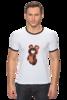 """Футболка """"Рингер"""" (Мужская) """"Олимпийский мишка '80"""" - футболка, медведь, олимпиада, мишка, олимпийский мишка, olympics, 80's, олимпийский"""