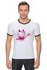 "Футболка ""Рингер"" (Мужская) ""Hello Kitty Devil"" - hello kitty, devil"