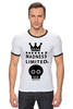 "Футболка Рингер ""Madness"" - skull, череп, корона, фэшн, crown"