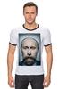"""Футболка """"Рингер"""" (Мужская) """"Путинизм"""" - царь, king, путин, борода, putin, beard, путинизм"""