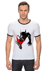 """Футболка """"Рингер"""" (Мужская) """"Bad Batman (Плохой Бэтман)"""" - batman, бэтмен"""