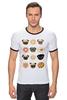 """Футболка Рингер """"Собачки и печеньки"""" - пончик, бульдог, печенье, эклер"""
