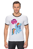 """Футболка """"Рингер"""" (Мужская) """"my little pony girl"""" - my little pony, пони, для детей, детское"""