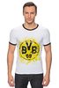 """Футболка """"Рингер"""" (Мужская) """"боруссия дортмунд"""" - логотип, германия, боруссия, дортмунд"""