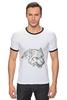 """Футболка """"Рингер"""" (Мужская) """"Angry Wolf Толстовка """" - волк, wolf"""
