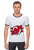 """Футболка Рингер """"New Jersey Devils"""" - хоккей, nhl, нхл, нью-джерси девилс, new jersey devils"""