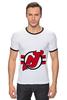 "Футболка ""Рингер"" (Мужская) ""New Jersey Devils"" - хоккей, nhl, нхл, нью-джерси девилс, new jersey devils"