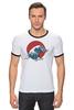 """Футболка Рингер """"Япония"""" - арт, стиль, море, девушке, аниме, япония, japan, цунами, tsunami"""