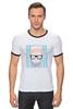 """Футболка """"Рингер"""" (Мужская) """"Hipsta please"""" - очки, модные, хипстер, hipster, модный, хипстота, please"""