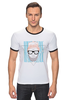 "Футболка Рингер ""Hipsta please"" - очки, модные, хипстер, hipster, модный, хипстота, please"
