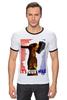 "Футболка Рингер ""молот"" - арт, авторские майки, рука, патриотизм, флаг, молот, рабочий, серп, битва"