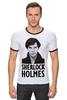 "Футболка Рингер ""Sherlock Holmes"" - london, шерлок, холмс, ватсон, cumberbatch"
