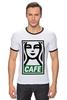 "Футболка ""Рингер"" (Мужская) ""Starbucks (Obey)"" - кофе, coffee, starbucks, старбакс, cafe"