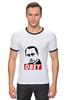 """Футболка """"Рингер"""" (Мужская) """"Путин Obey"""" - путин, putin"""