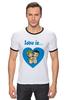 """Футболка """"Рингер"""" (Мужская) """"love is..."""" - heart, love is"""