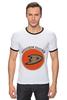"Футболка ""Рингер"" (Мужская) ""Anaheim Ducks"" - спорт, хоккей, nhl, нхл, anaheim ducks"