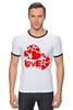 "Футболка ""Рингер"" (Мужская) ""love"" - сердце, сердечко, love is"