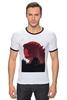 "Футболка Рингер ""Godzilla white"" - фантастика, фильмы, динозавры, годзилла, godzilla"