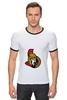 """Футболка """"Рингер"""" (Мужская) """"Ottawa Senators"""" - хоккей, nhl, ottawa senators, канада, оттава"""