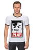 """Футболка Рингер """"Lego Play (Obey)"""" - gamer, lego, игрок, лего, играй"""