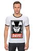 """Футболка Рингер """"Dave (2001: A Space Odyssey)"""" - obey, dave, space odyssey, космическая одиссея 2001 года"""