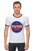 "Футболка ""Рингер"" (Мужская) ""Путина в президенты Америки (2016)"" - usa, патриот, путин, президент, putin"