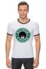 "Футболка Рингер ""Batman Coffee"" - пародия, batman, кофе, starbucks, старбакс"