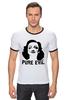 "Футболка Рингер ""Pure Evil"" - граффити, дизайн, винтаж, марлен дитрих, pure evil"