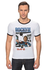 "Футболка ""Рингер"" (Мужская) ""Rocky / Рокки"" - иероглифы, сталлоне, рокки, rocky, kinoart"